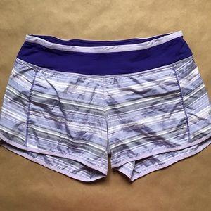 Lululemon Speed Shorts Berry Purple Stripe